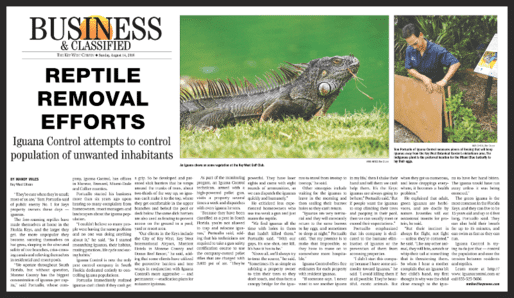 Reptile removal efforts